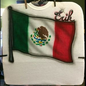 MEXICAN FLAG Airbrushed T-shirt Custom Made